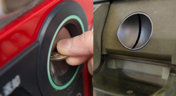 自動販売機のコイン投入口の秘密…縦向きと横向きの違いには納得の理由が…