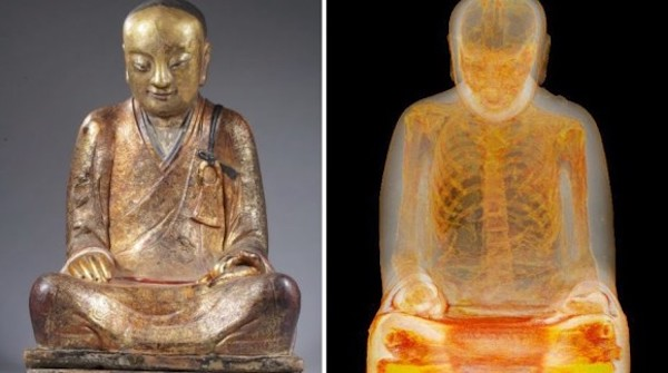 CTスキャンで浮かび上がった謎…仏像の中に1100年前に死亡した高僧のミイラを発見…