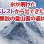 エベレストの氷が解けたら登山家たちの遺体が続々と出てきた…恐ろしい現実だと話題に…
