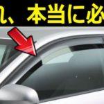 車のドアバイザー(サイドバイザー)は必要なのか?メリット・デメリットとは…