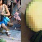中国の小学生女子が路上で売るスイカ…色々ヤバいと話題に…