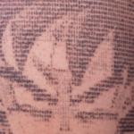 世界唯一のアスキーアートで描かれたタトゥー…カッコ良いと話題に…