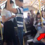バスで転倒したフリして女性のスカートをズリ下ろした男…キモすぎるだろと話題に…